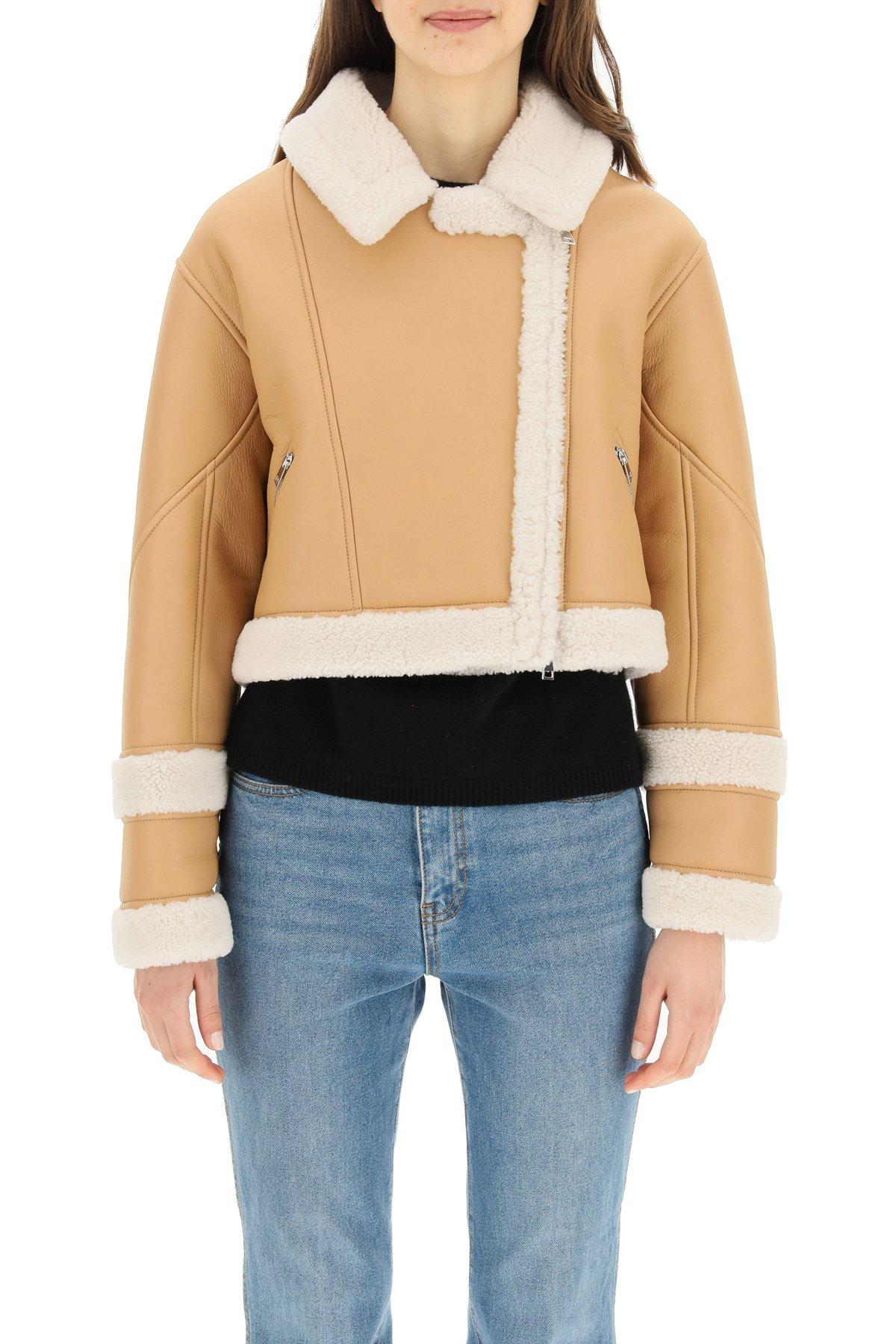 Blancha giacca aviator in shearling