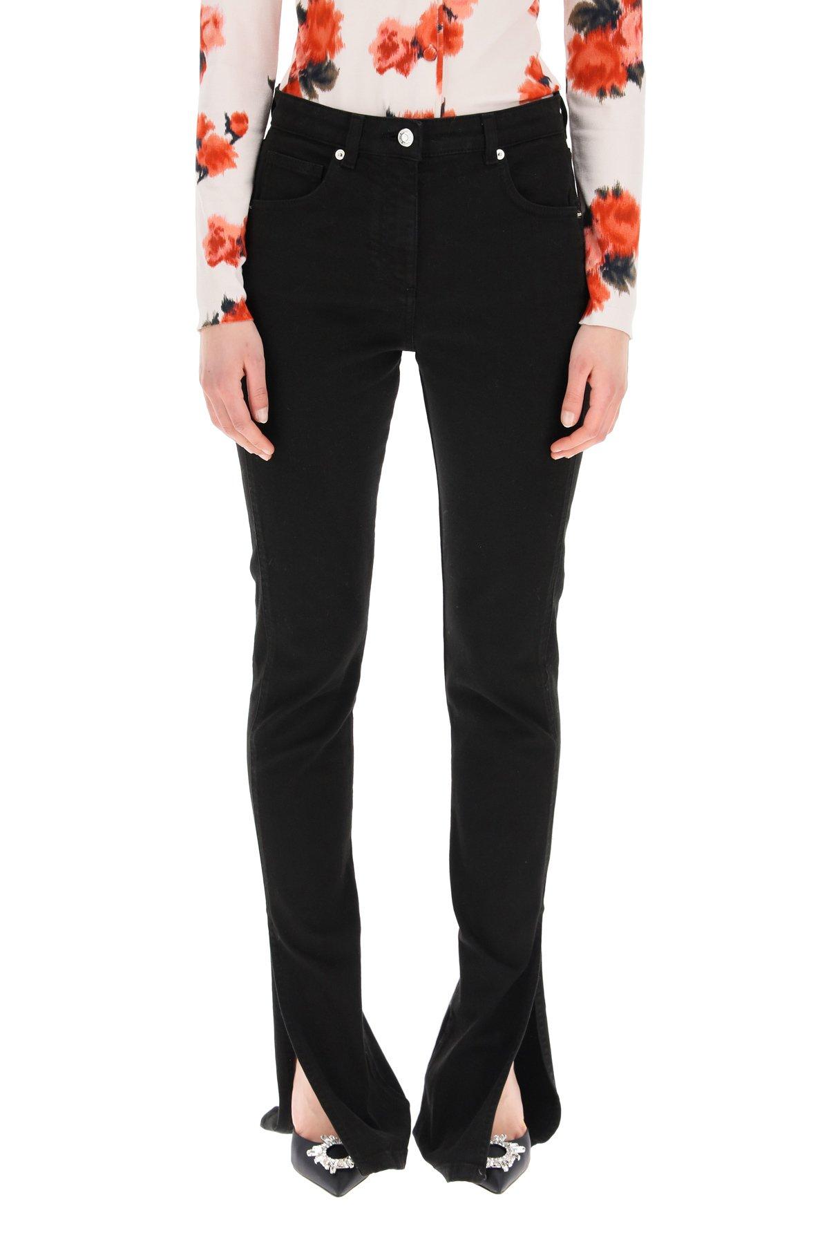 Blumarine jeans con spacchi sul fondo
