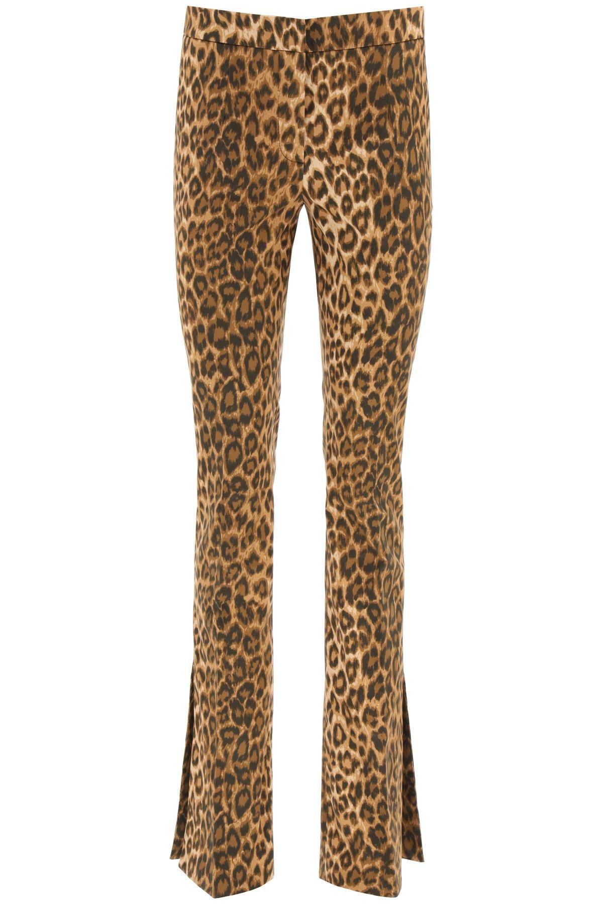 Blumarine pantaloni in cotone leopard