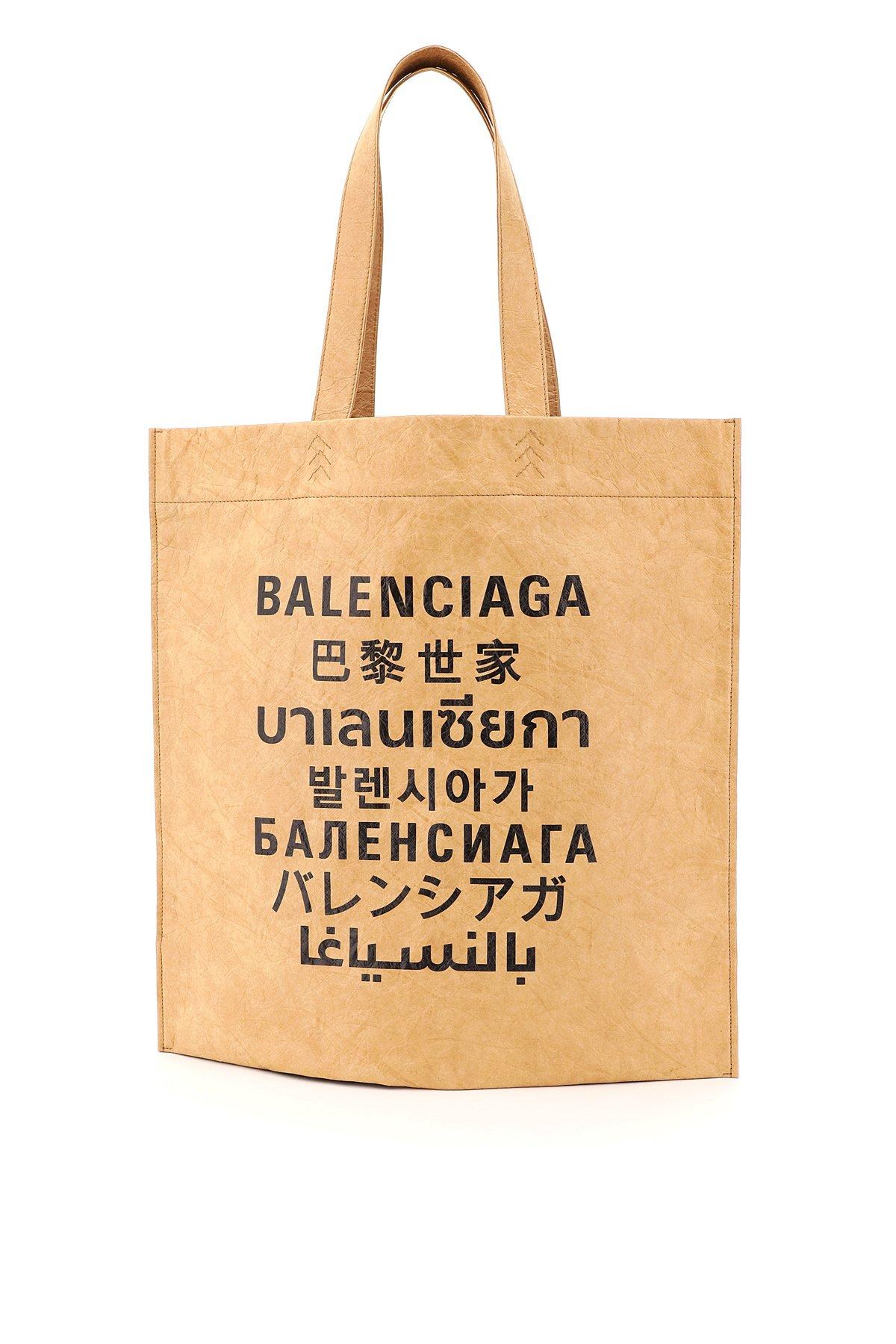 Balenciaga borsa tote m logo internazionale