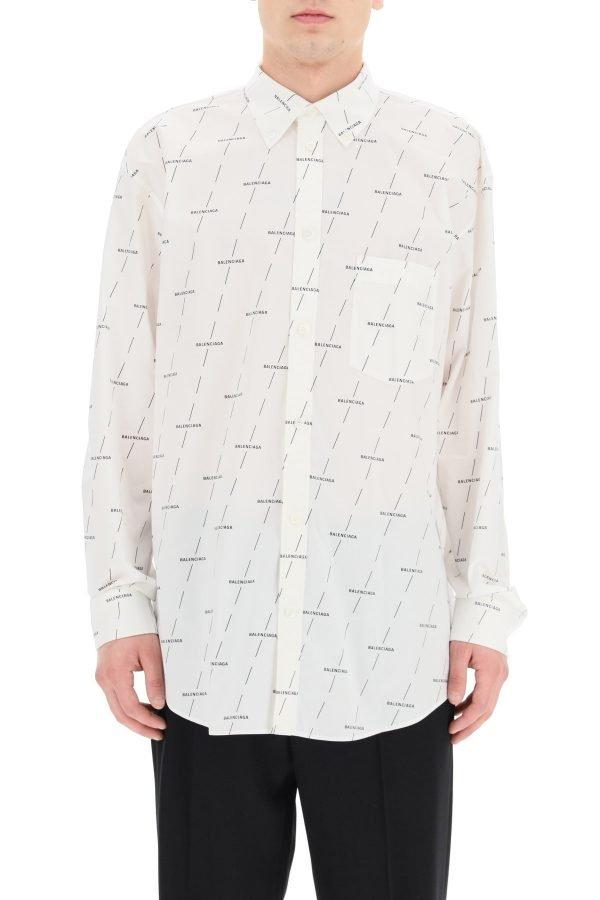 Balenciaga camicia button-down logo licence
