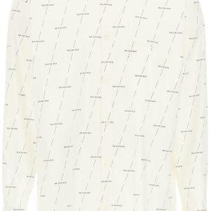 Balenciaga button-down logo license shirt