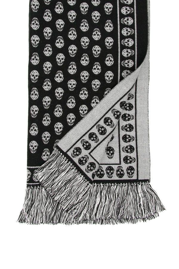 Alexander mcqueen sciarpa extralarge skull