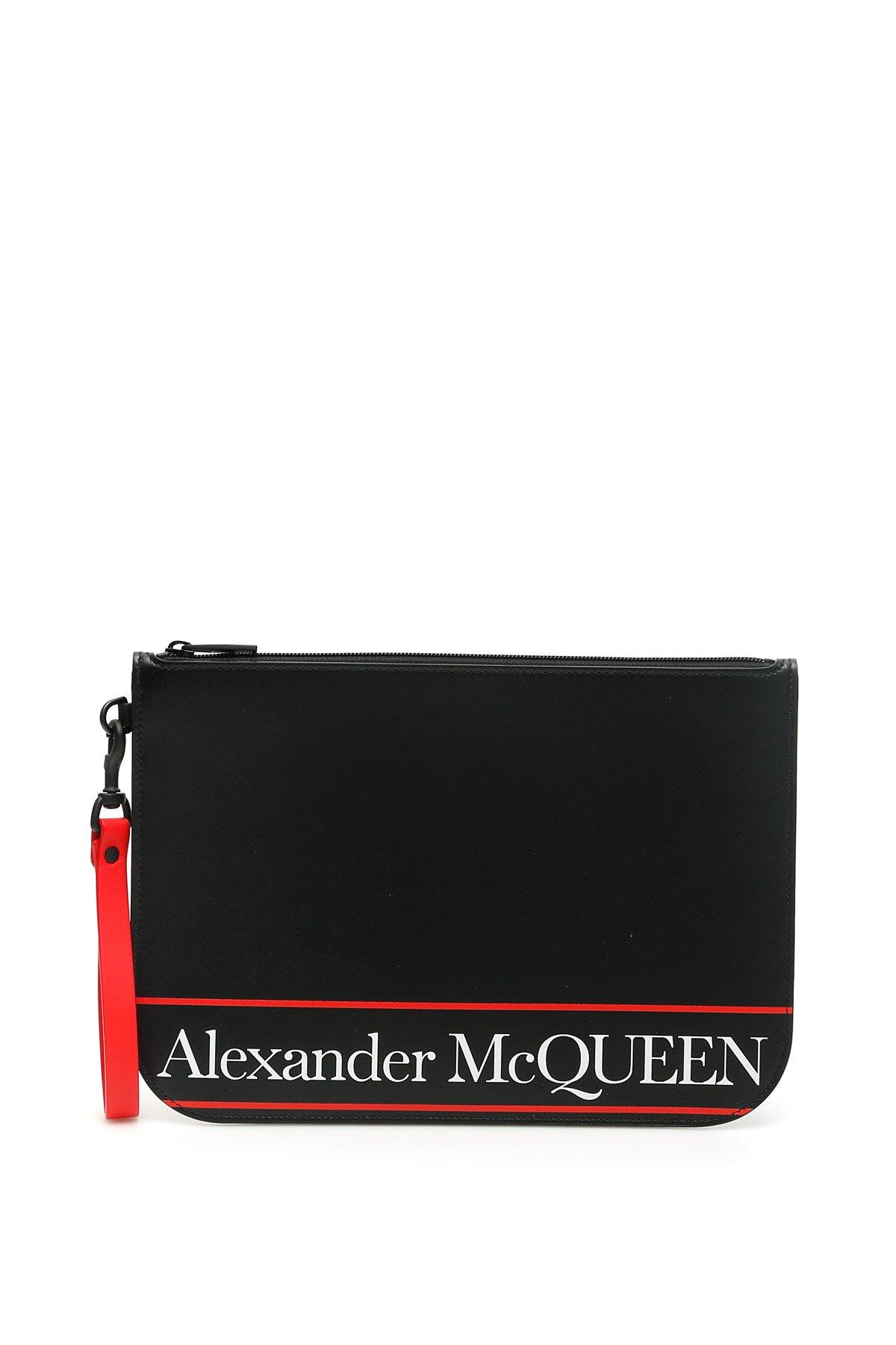 Alexander mcqueen pouch selvedge logo