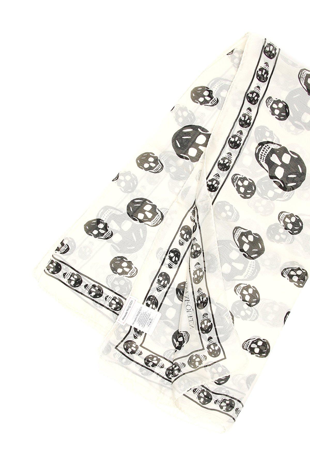 Alexander mcqueen foulard seta skull