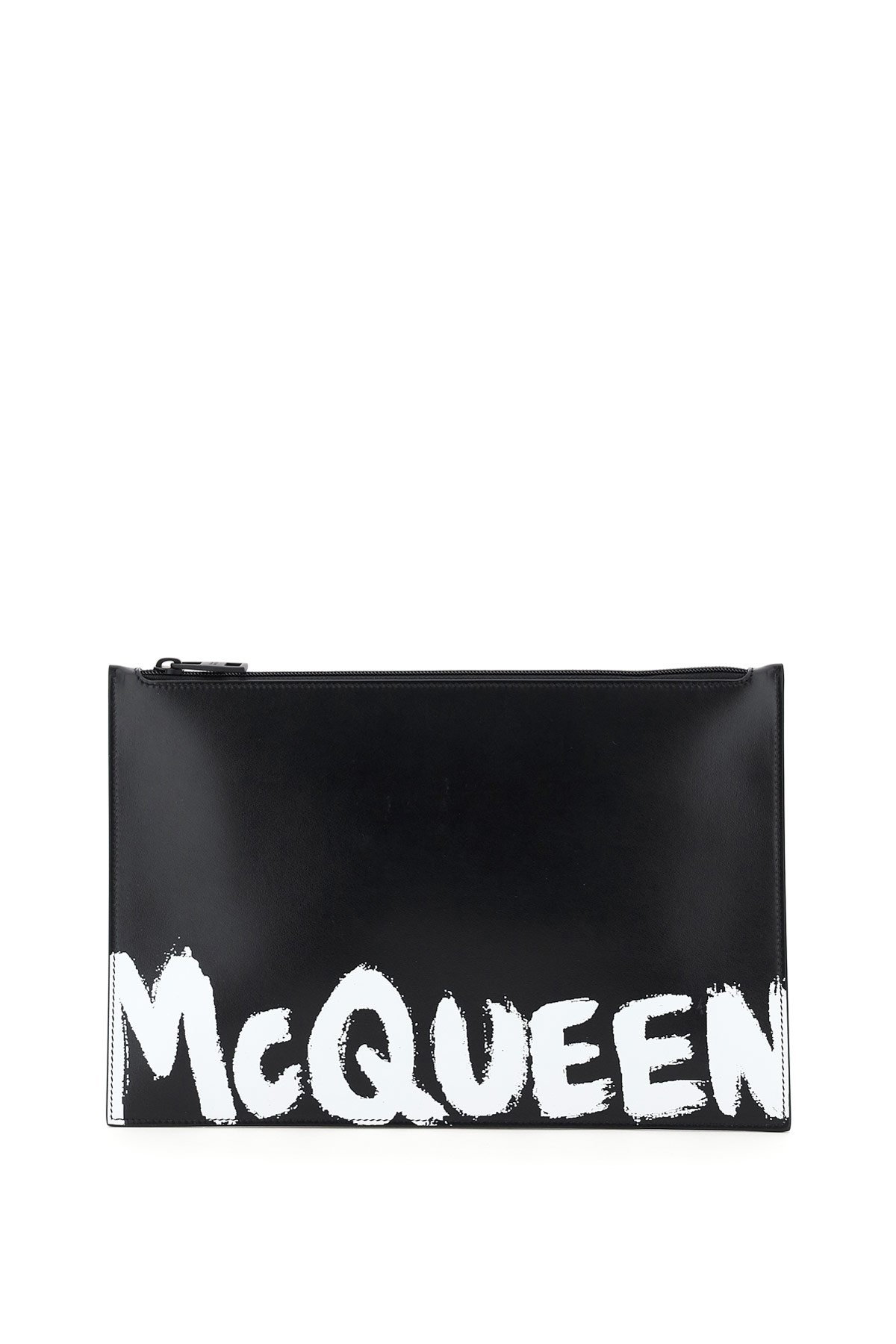 Alexander mcqueen pouch flat logo graffiti