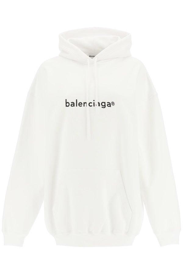Balenciaga felpa cappuccio con stampa logo
