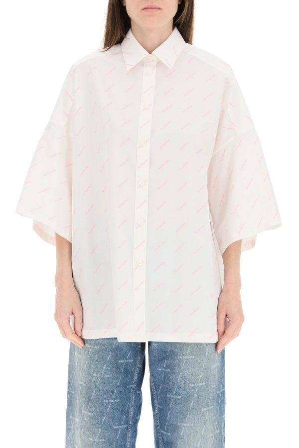 Balenciaga camicia logo vareuse fluo