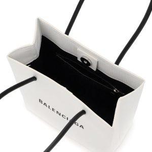 Balenciaga shopping in pelle north south xxs logo