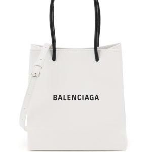 Balenciaga north south xxs logo leather shopping bag