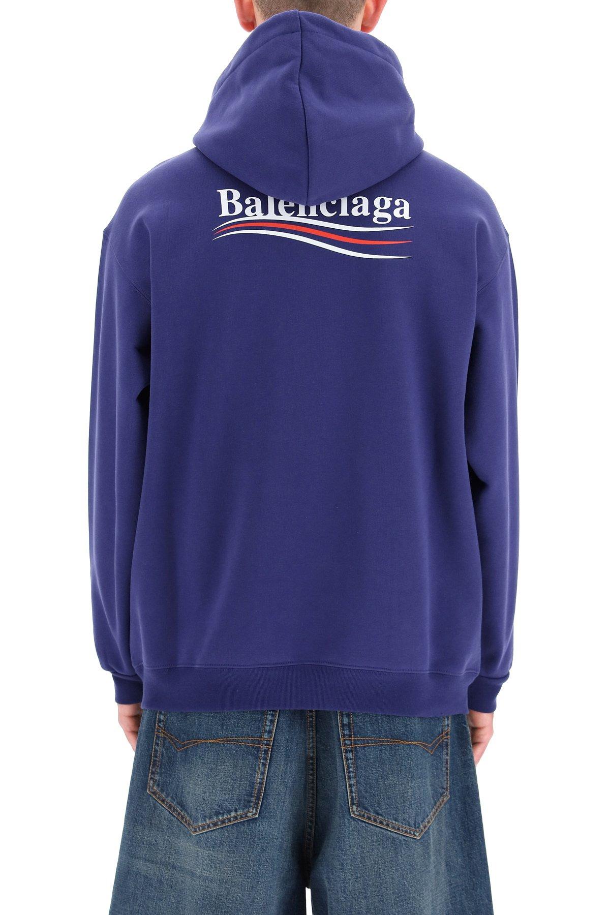 Balenciaga felpa cappuccio logo political campaign