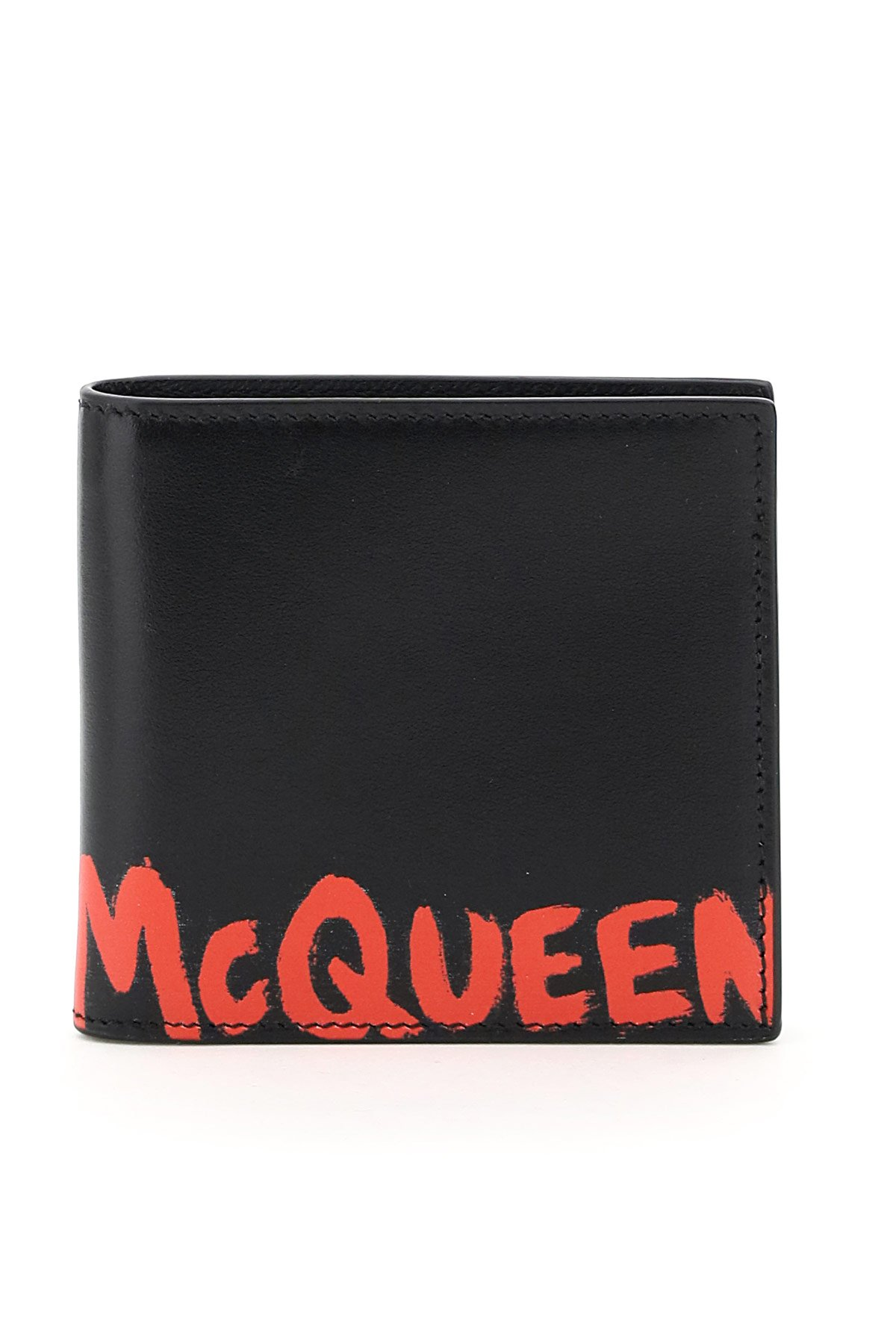 Alexander mcqueen portafoglio logo graffiti bi-fold