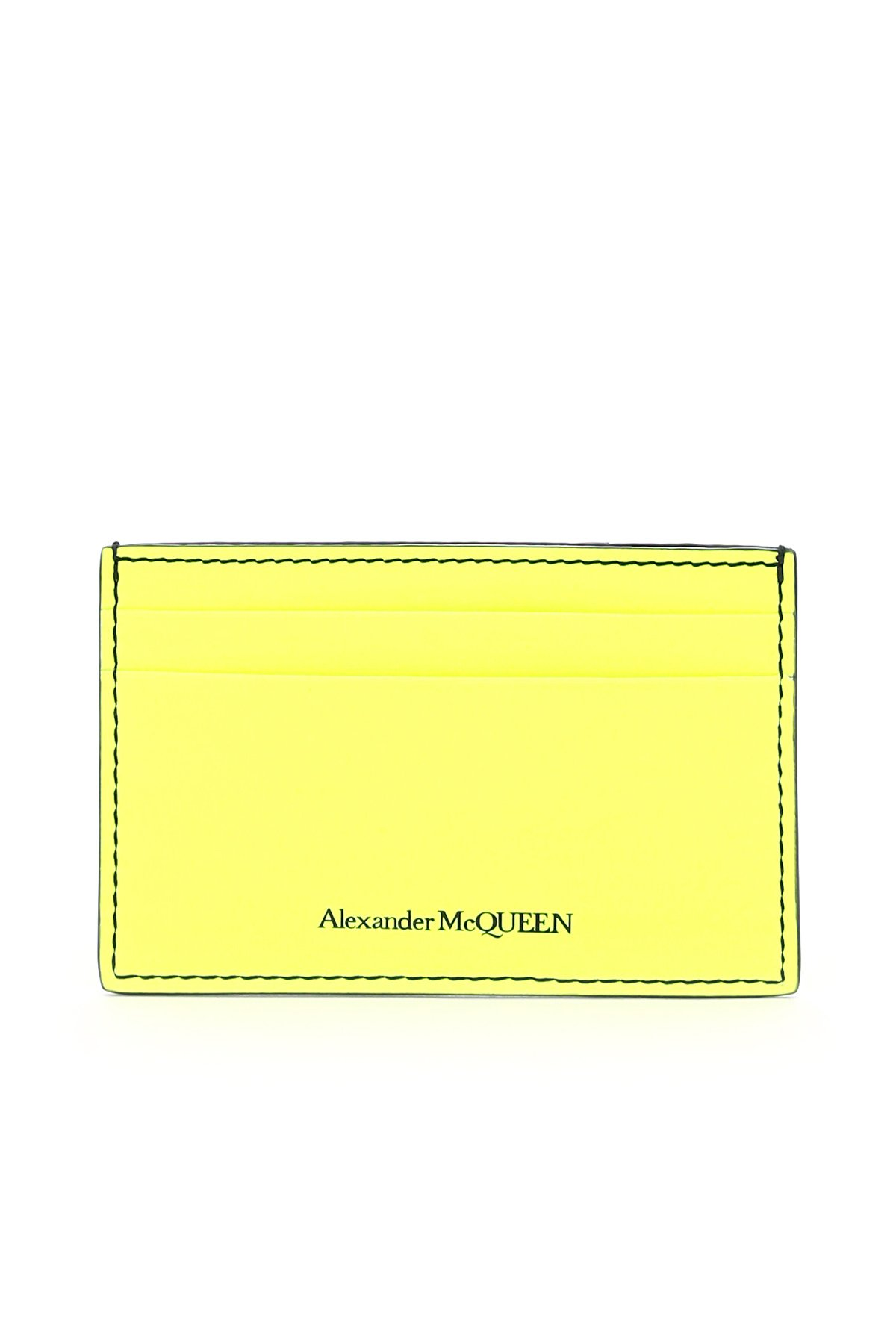 Alexander mcqueen porta carte di credito fluo