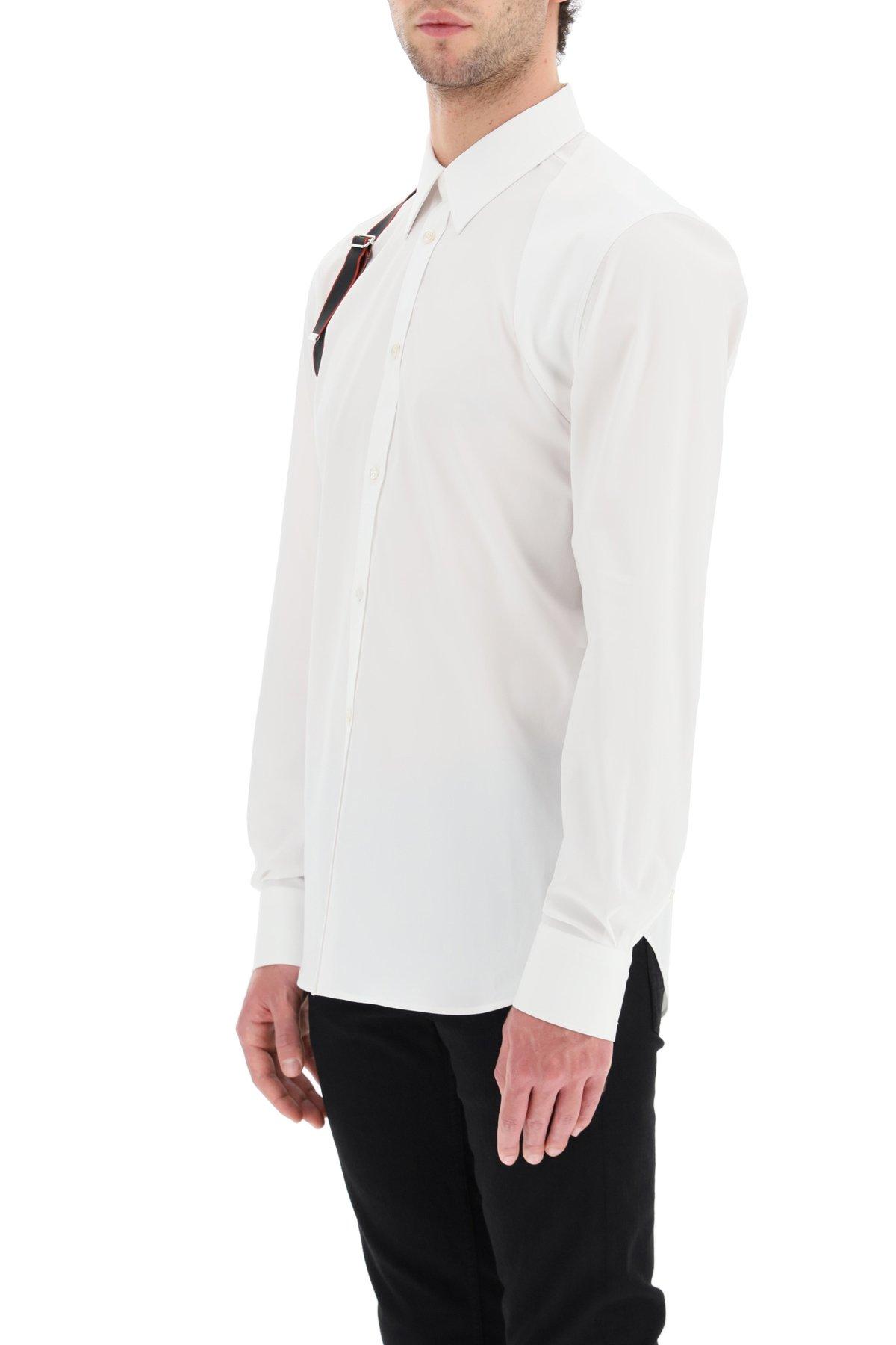 Alexander mcqueen camicia con harness