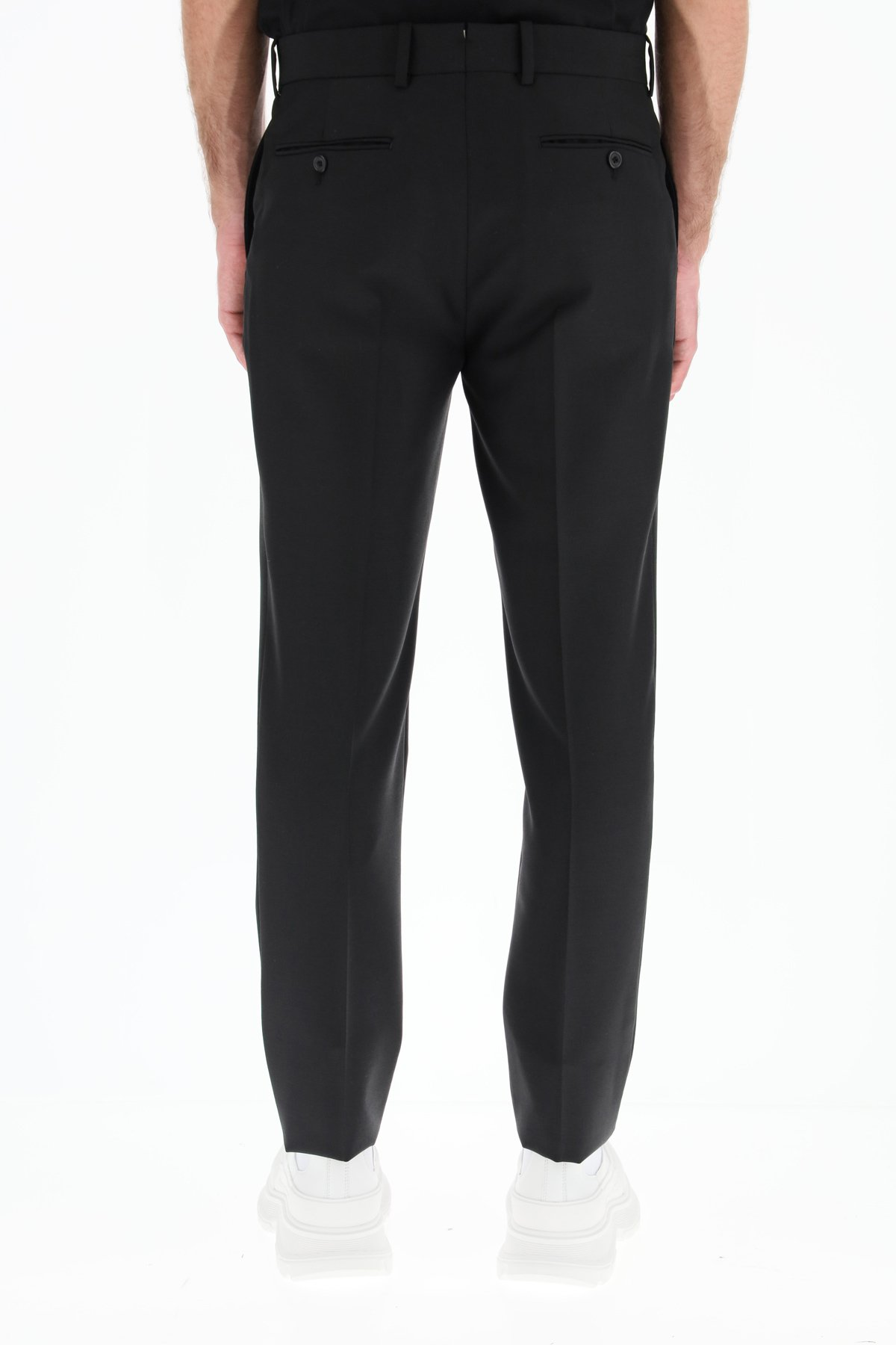 Alexander mcqueen pantaloni sartoriali in lana