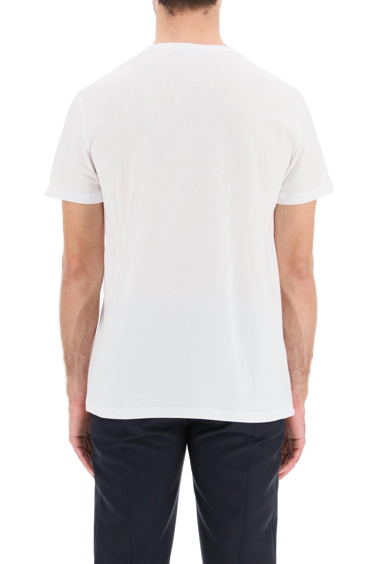 Alexander mcqueen t-shirt logo graffiti