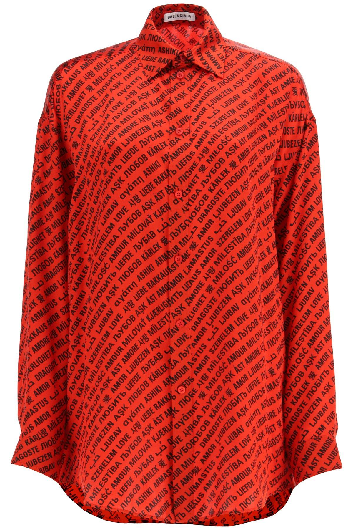 Balenciaga camicia con stampa multi love