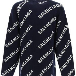 Balenciaga pullover logo jacquard