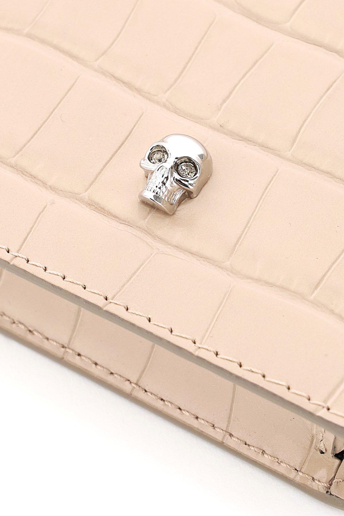 Alexander mcqueen phone case skull chain