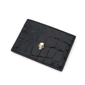 Alexander mcqueen porta carte di credito skull