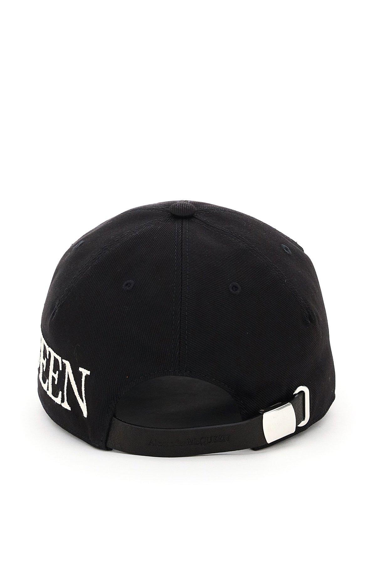 Alexander mcqueen cappello baseball logo oversize