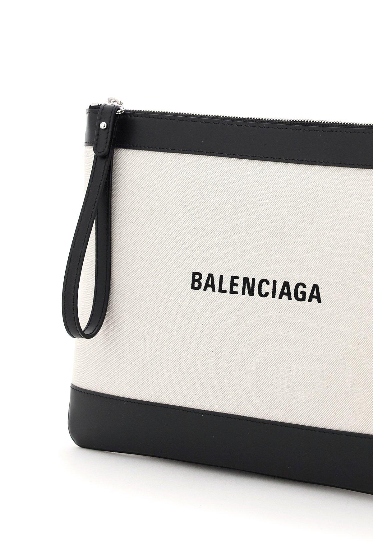 Balenciaga pouch navy medium