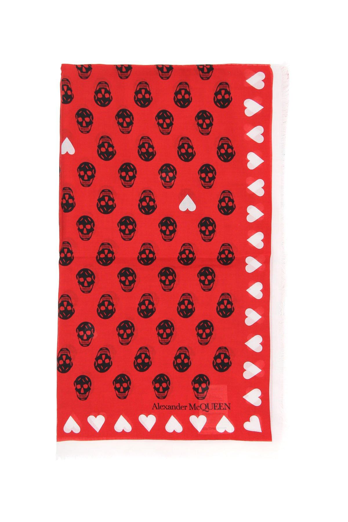 Alexander mcqueen sciarpa foulard heart bicker