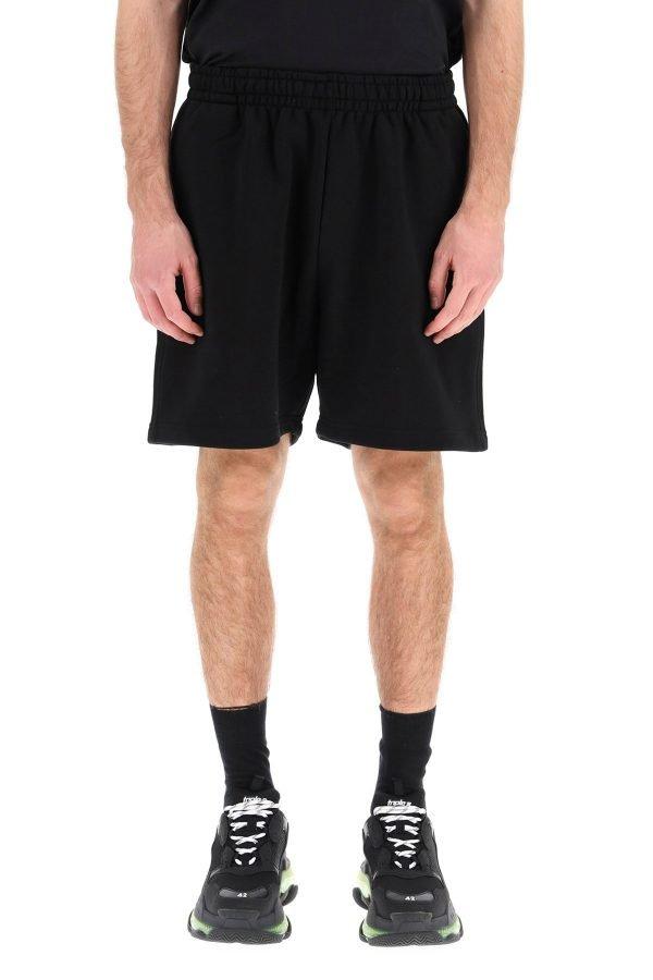 Balenciaga bermuda jogger logo political