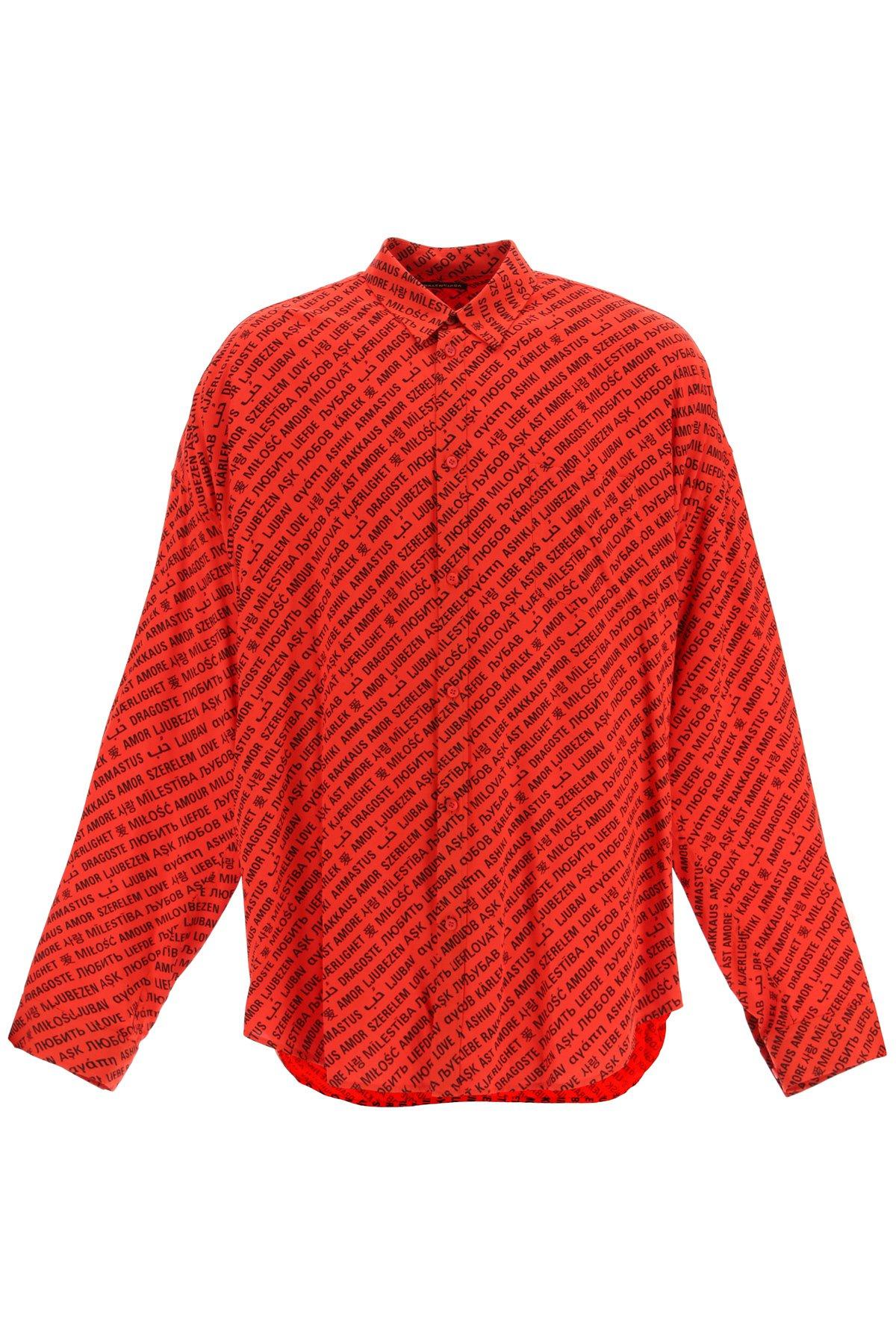 Balenciaga camicia script logo vareuse