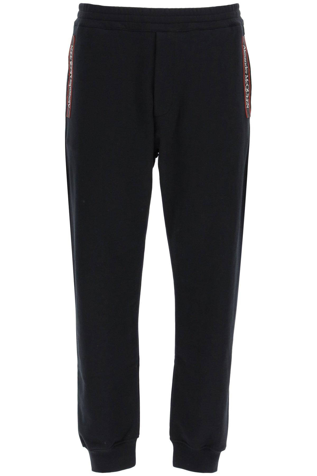Alexander mcqueen pantalone jogger con cimosa logata