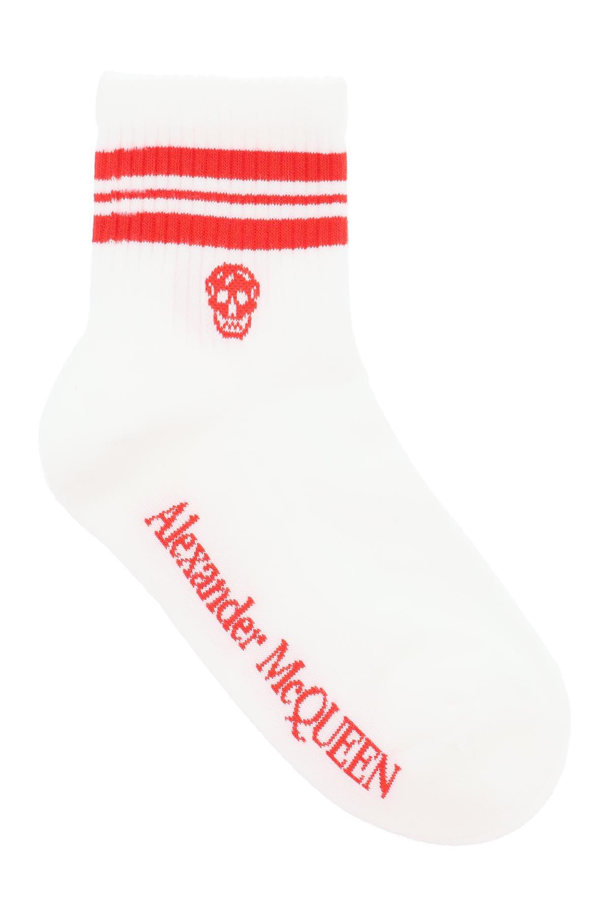 Alexander mcqueen calzini stripe skull sport