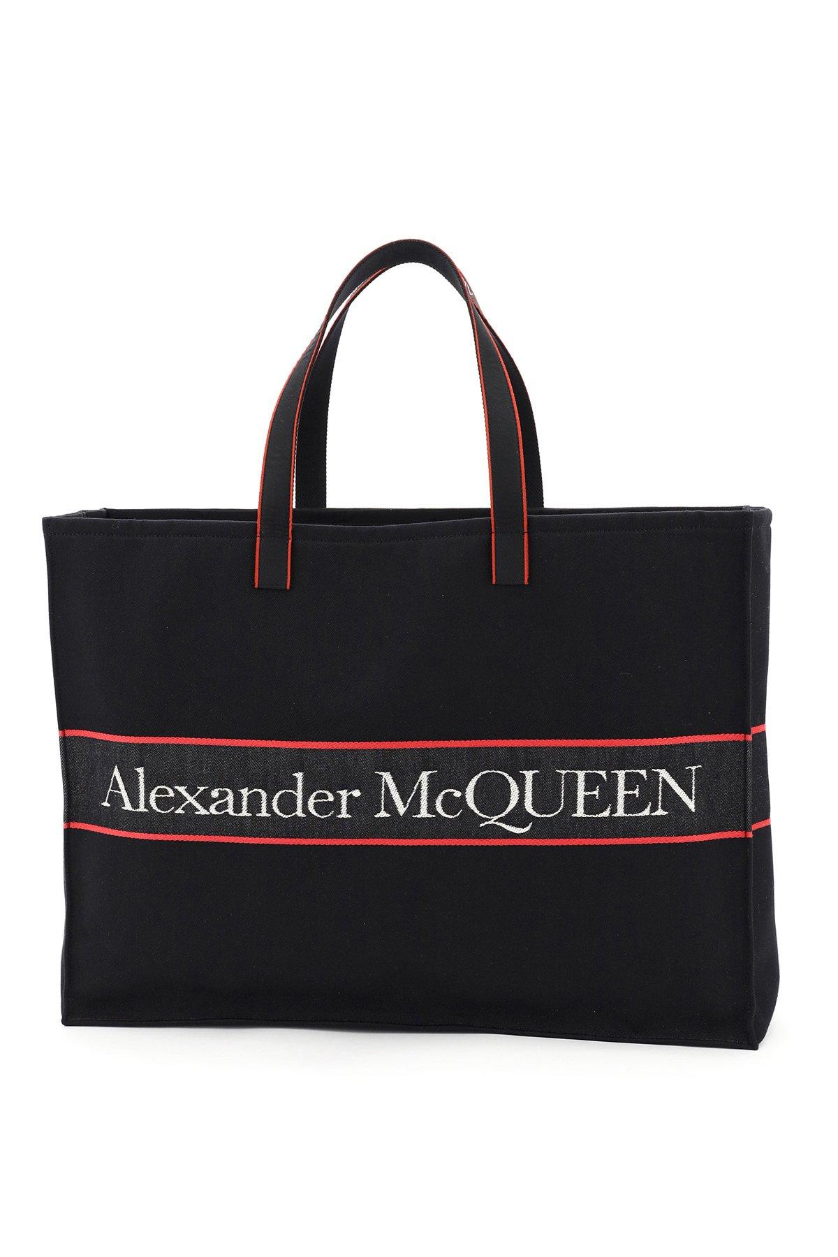 Alexander mcqueen shopper logo jacquard