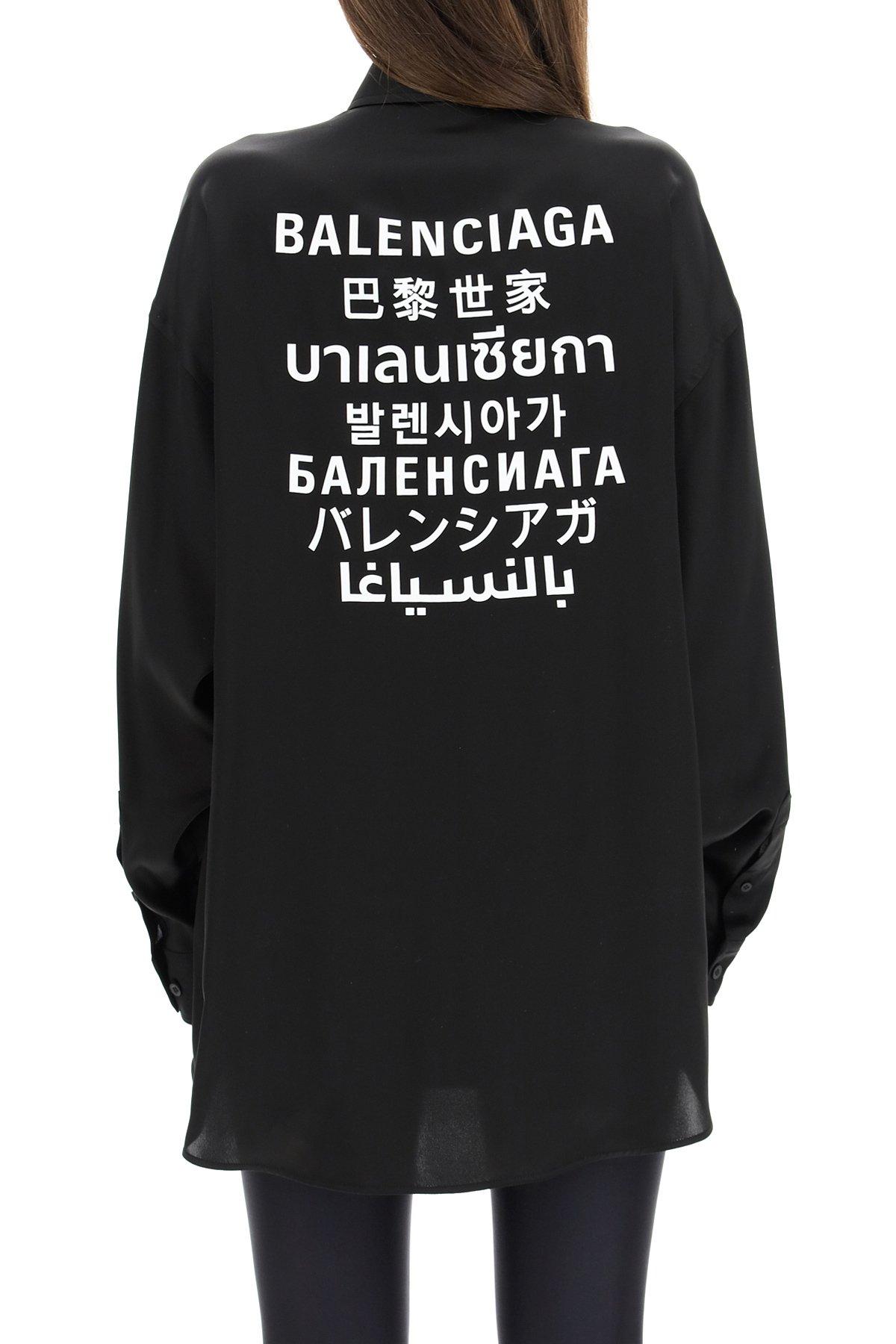 Balenciaga camicia con stampa languages