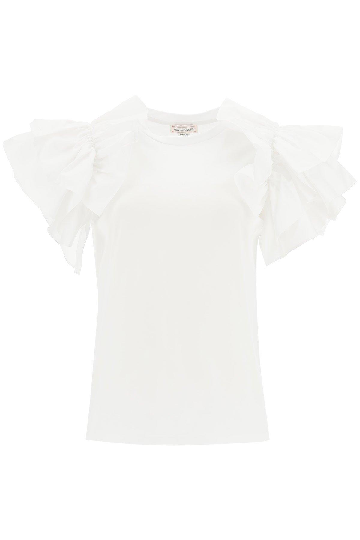 Alexander mcqueen t-shirt con volant