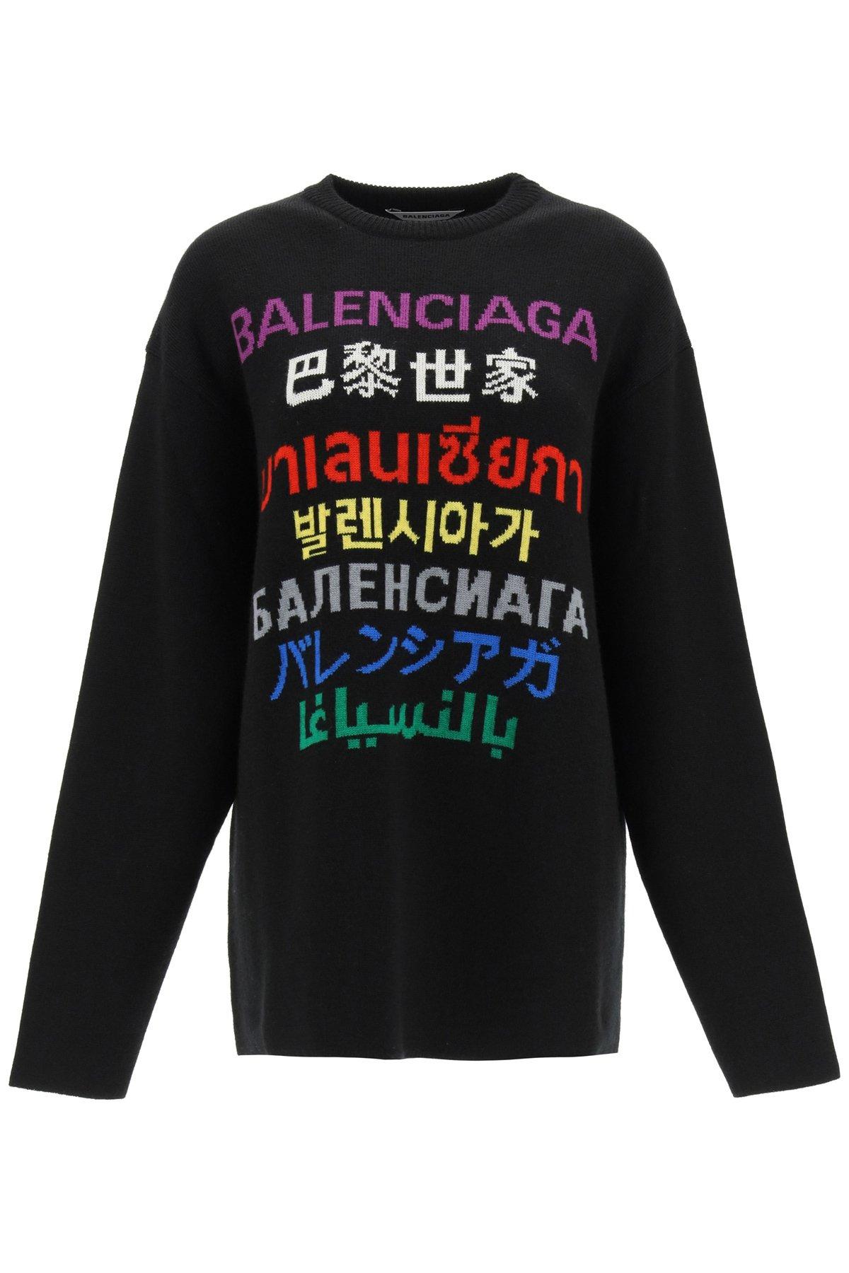 Balenciaga pullover languages multicolor
