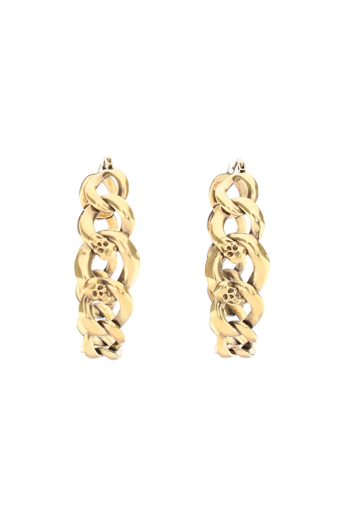 Alexander mcqueen orecchini chain hoop