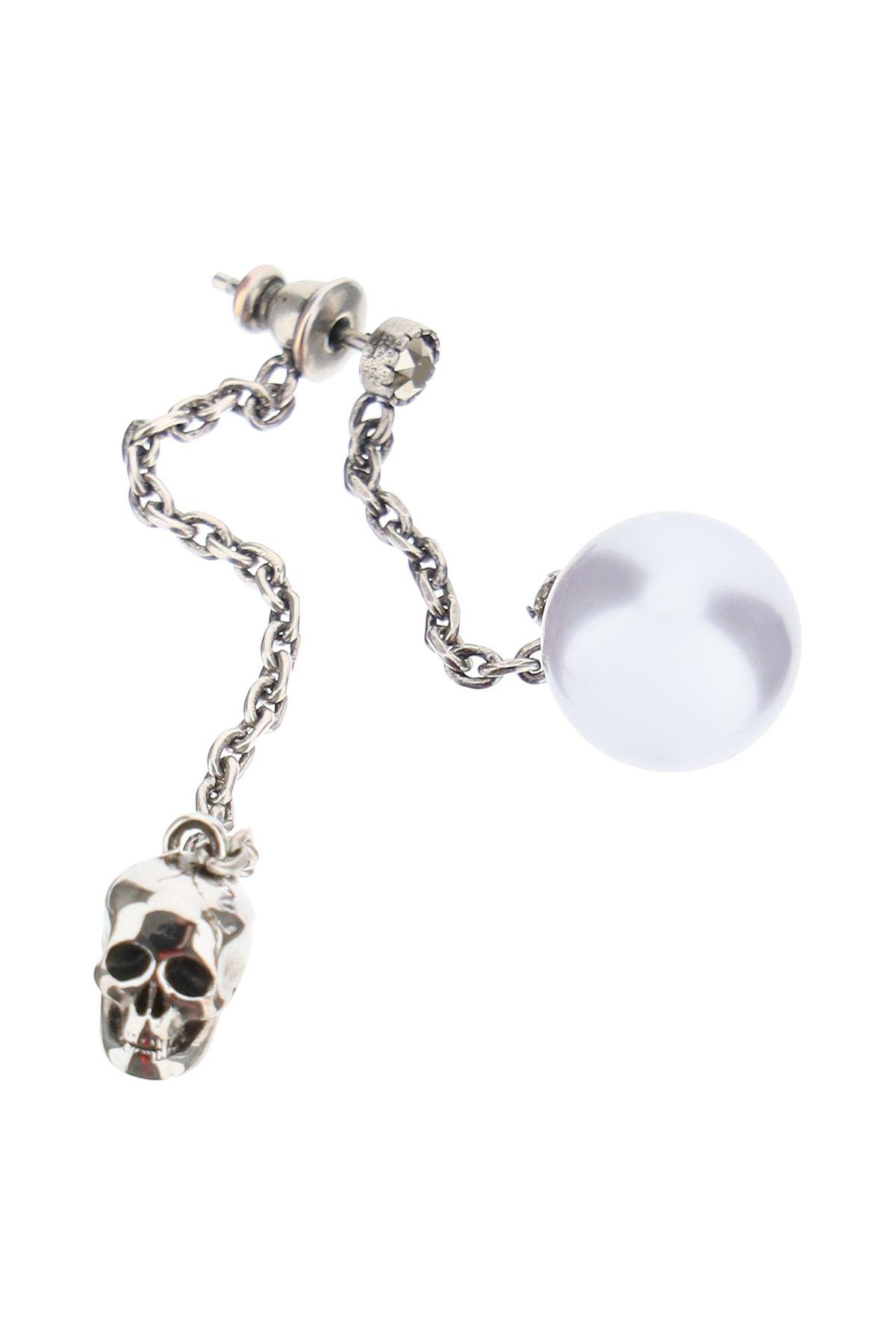 Alexander mcqueen orecchini pearly skull