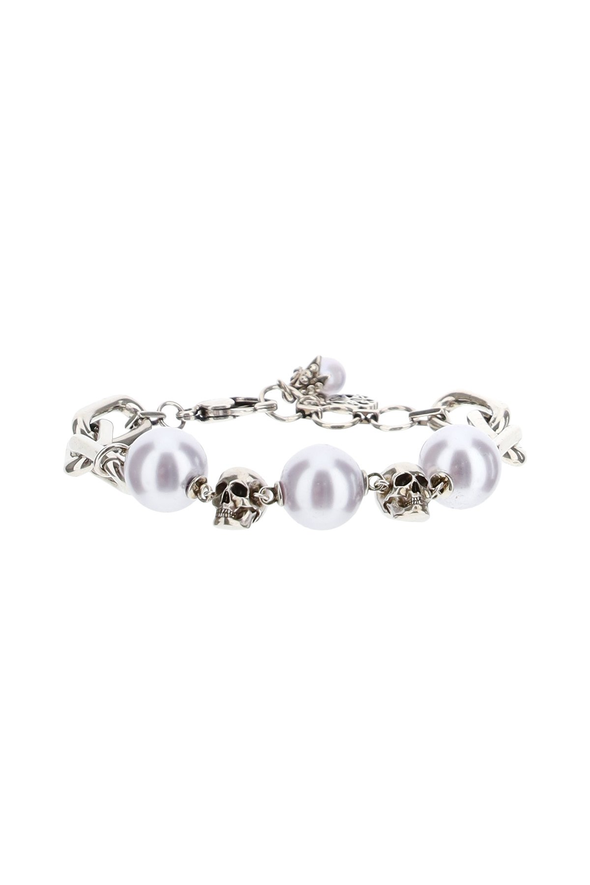 Alexander mcqueen bracciale chain pearl