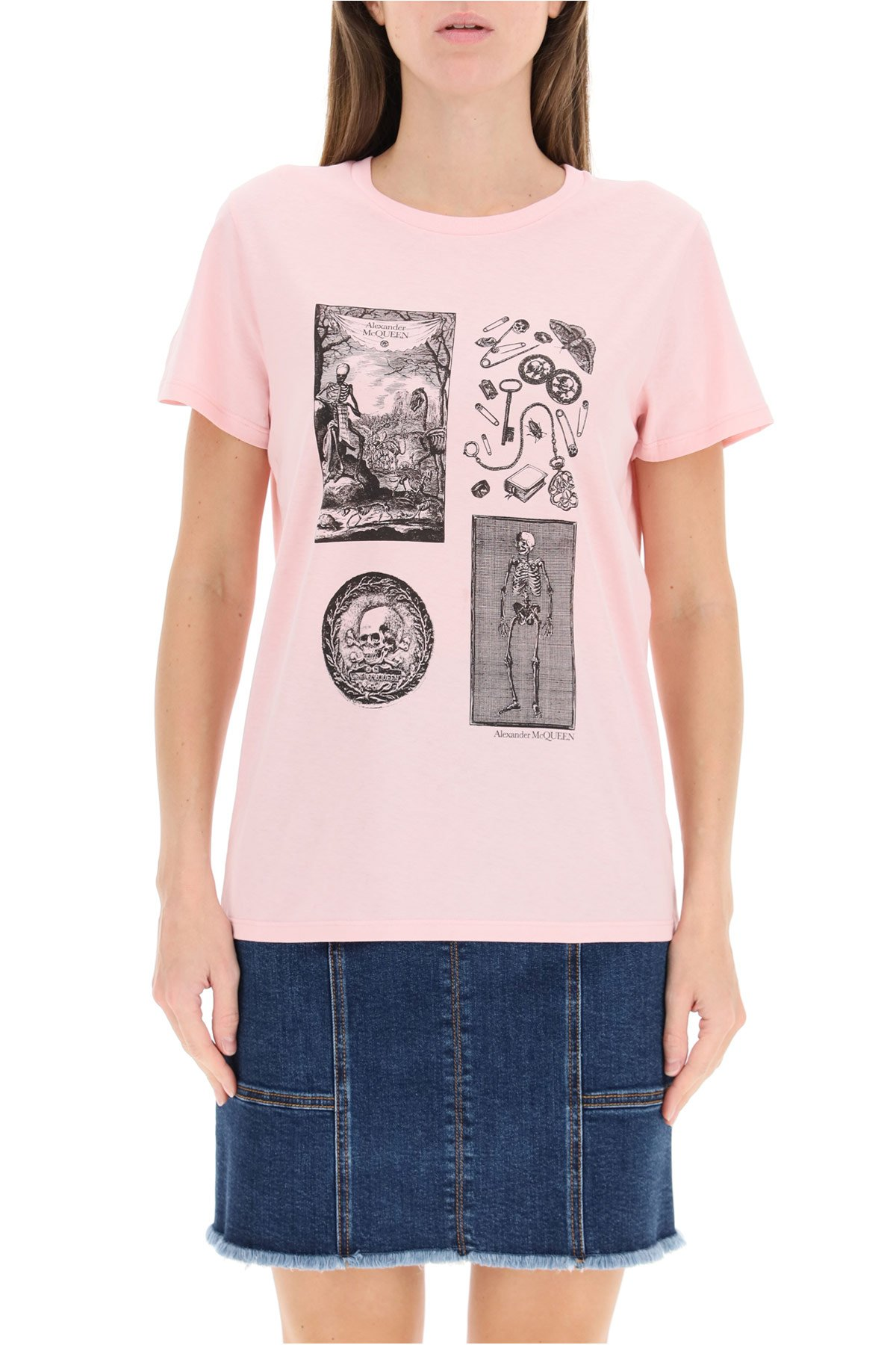 Alexander mcqueen t-shirt con stampa skeleton