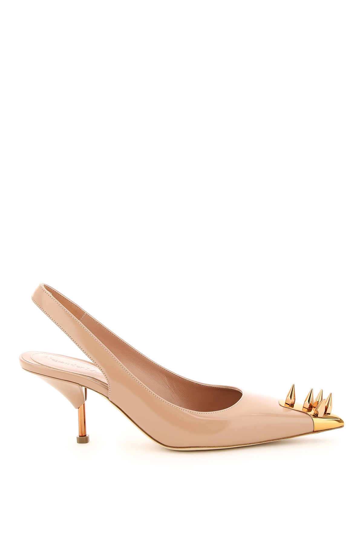 Alexander mcqueen leather slingback with studs