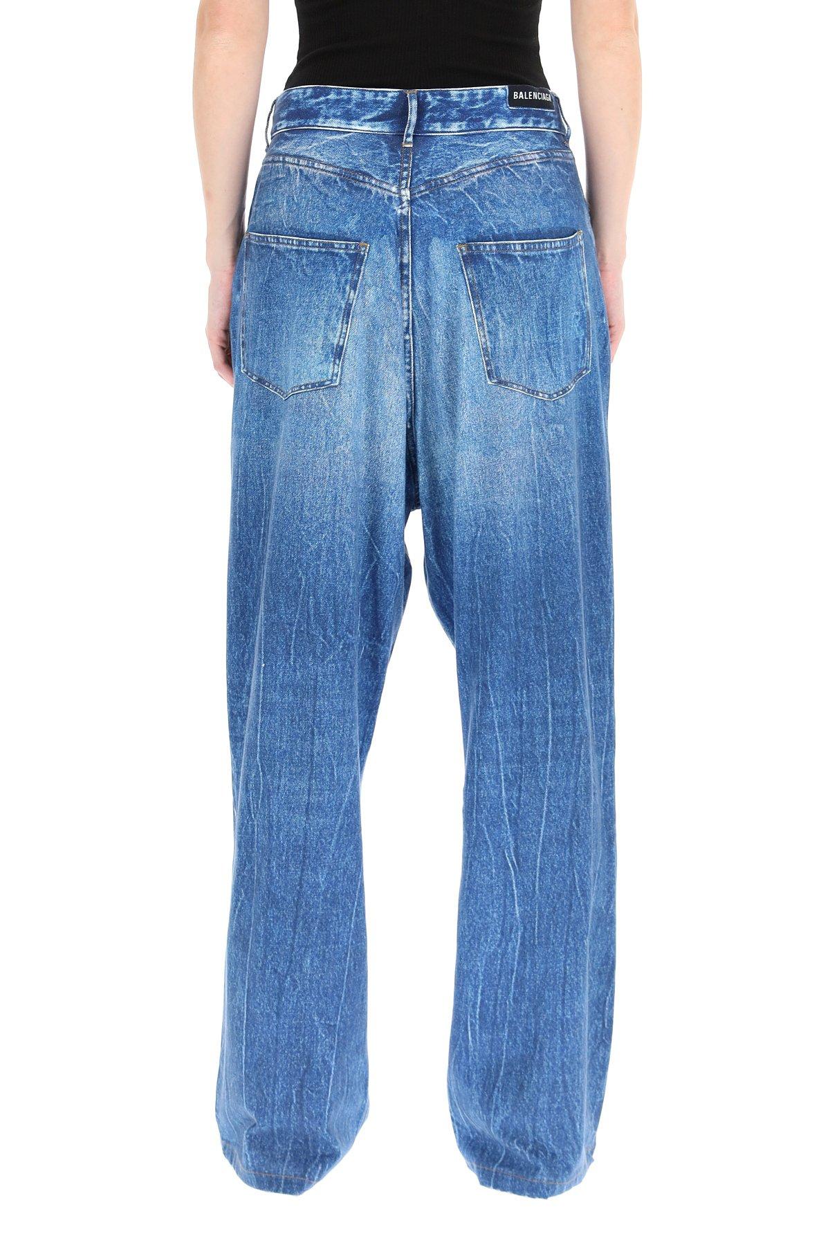Balenciaga pantaloni trompe l'oeil vintage