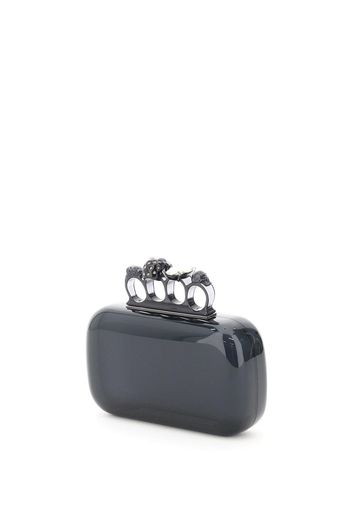Alexander mcqueen skull four ring clutch bag