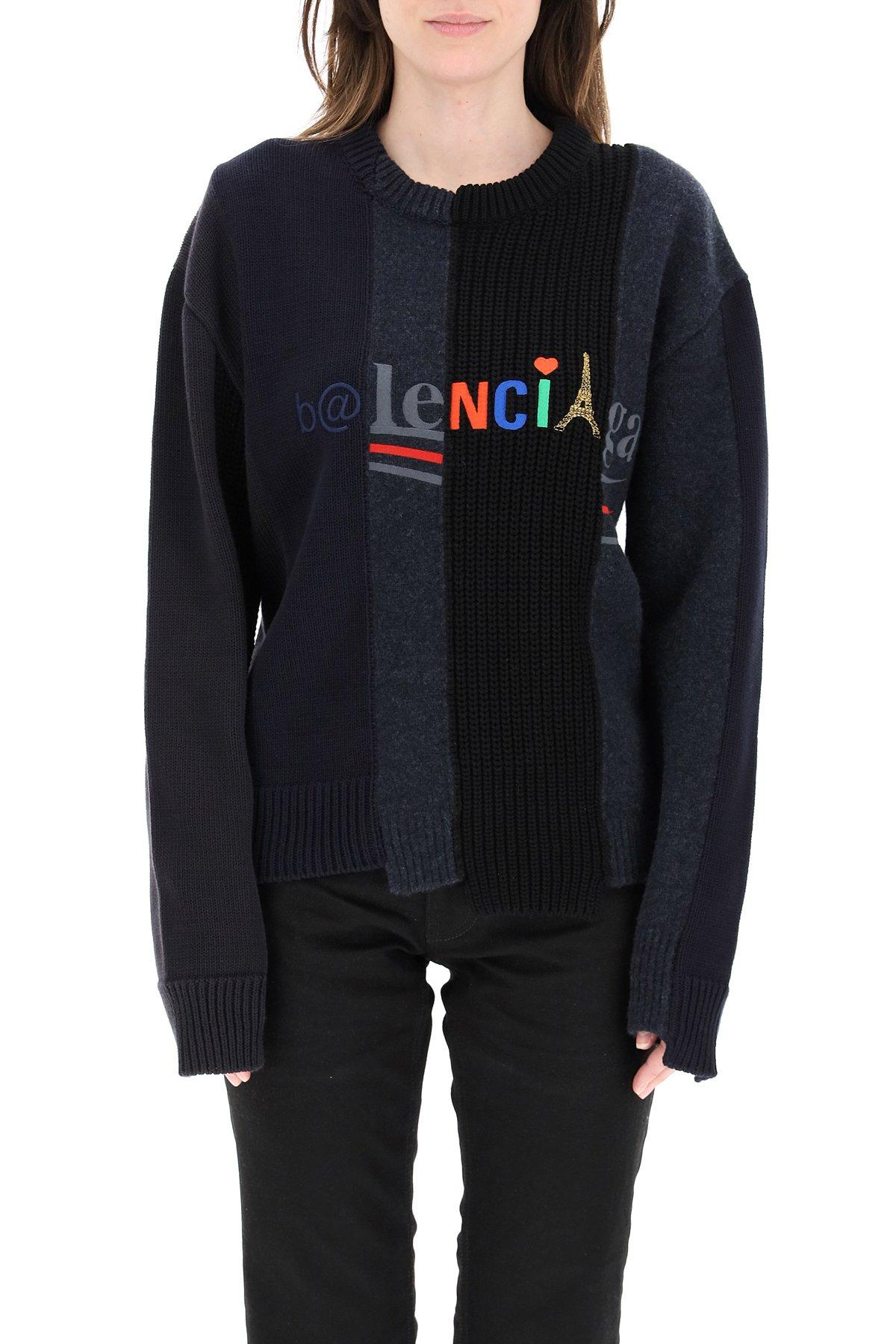 Balenciaga pullover ricomposto con logo