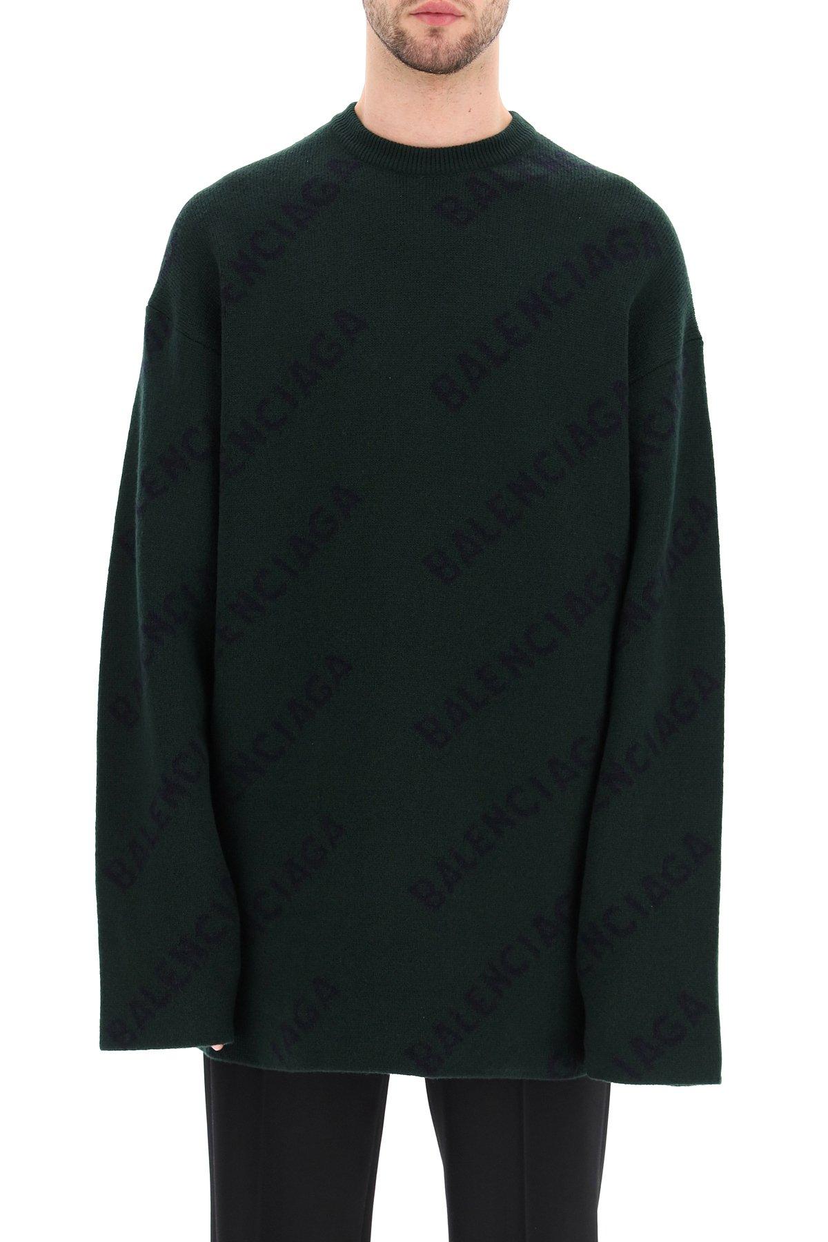 Balenciaga pullover oversize logo diagonal