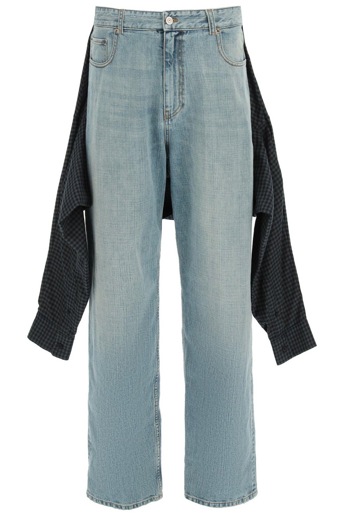 Balenciaga jeans hibrid shirt