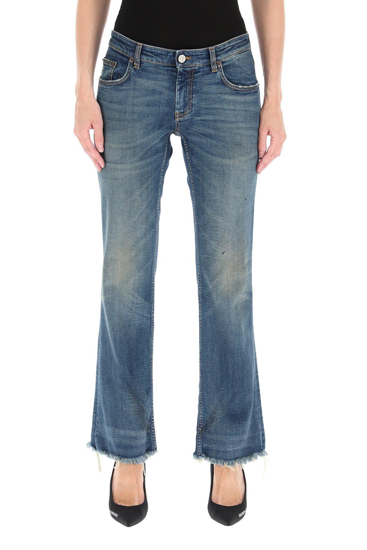 Balenciaga jeans flared cropped