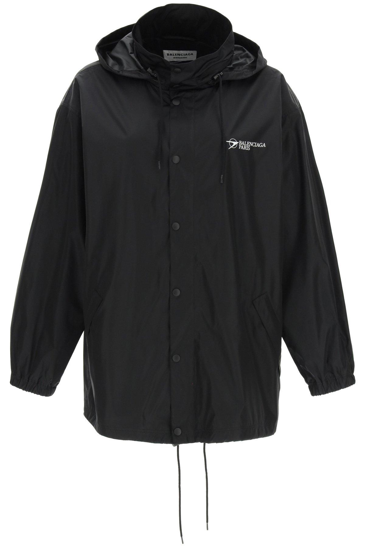 Balenciaga giacca a vento econyl logo