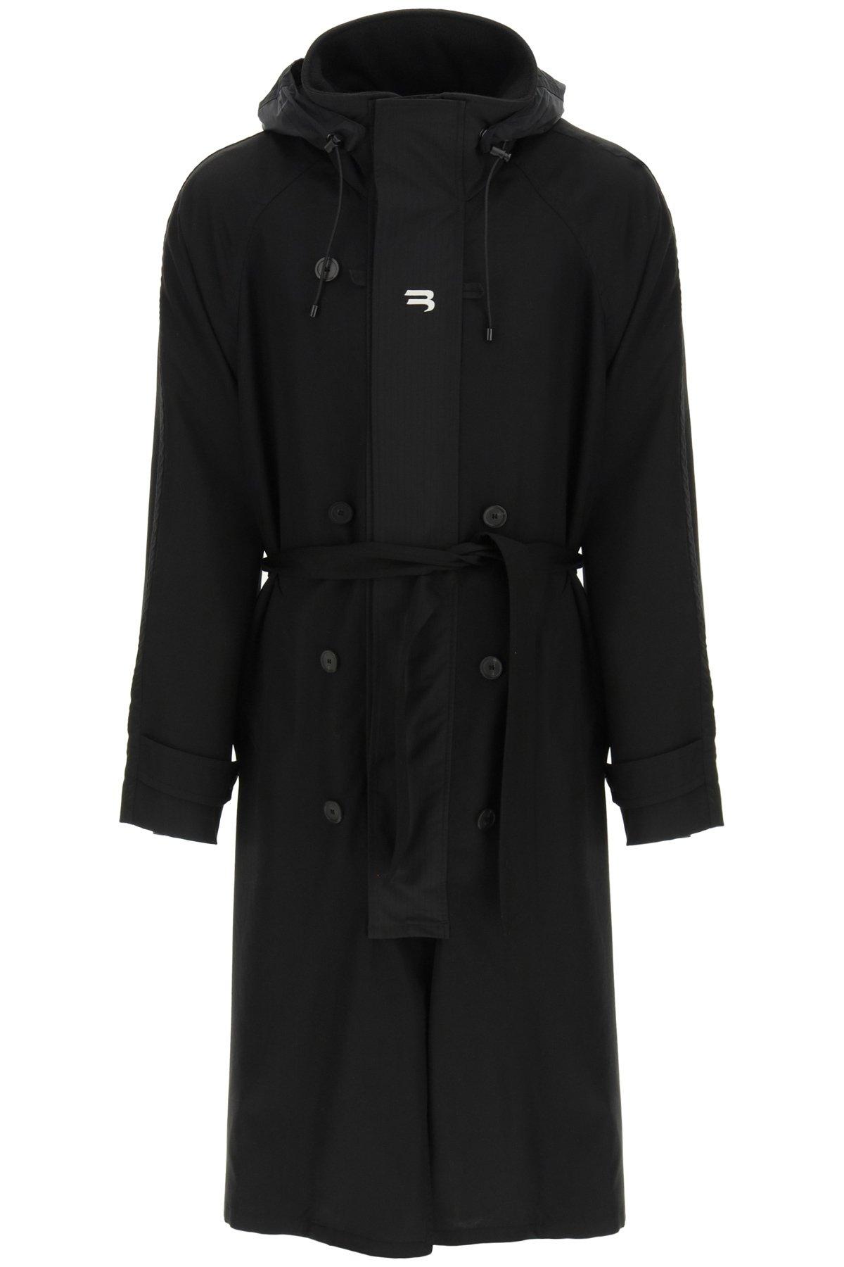 Balenciaga carcoat con cappuccio