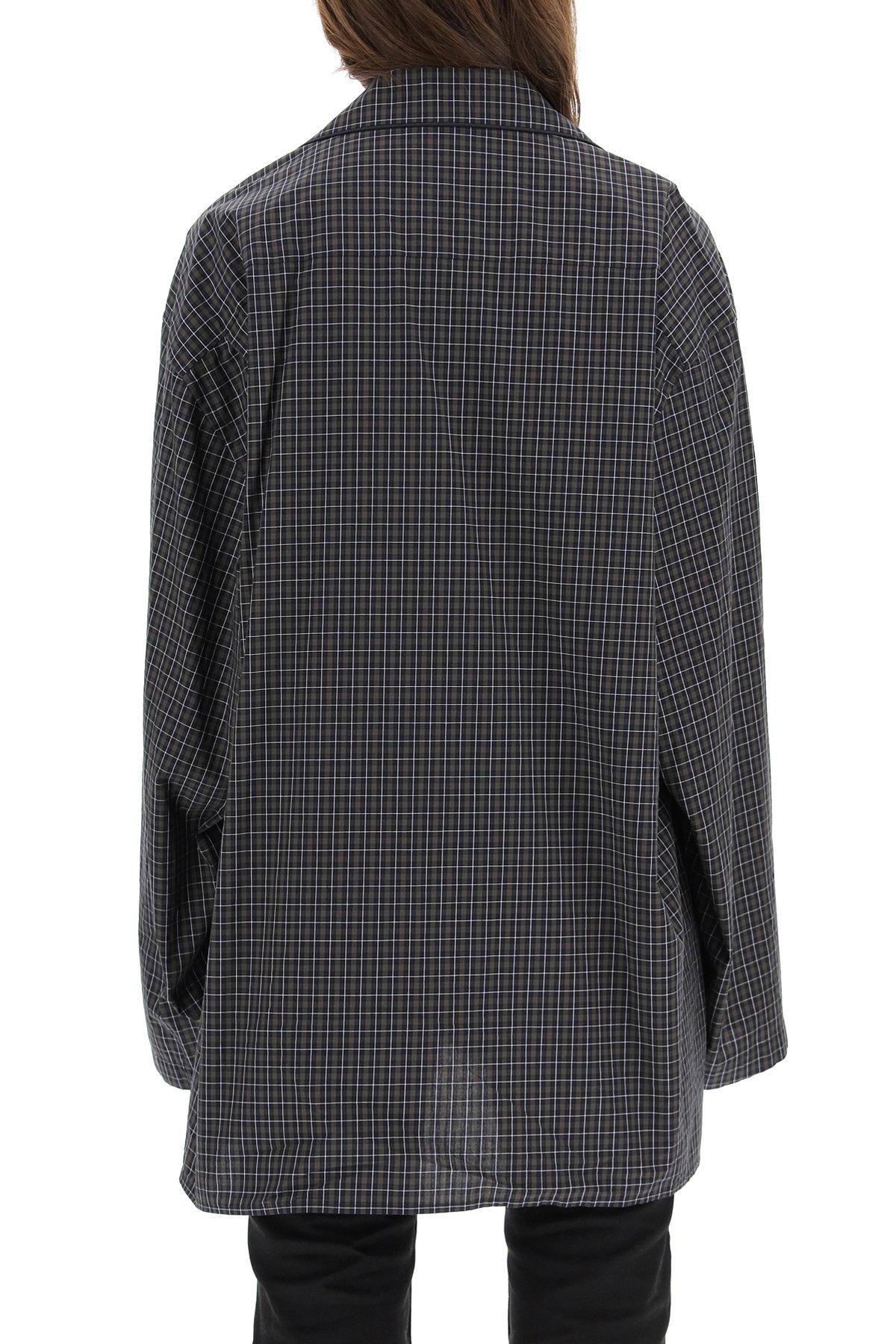 Balenciaga camicia over micro tartan