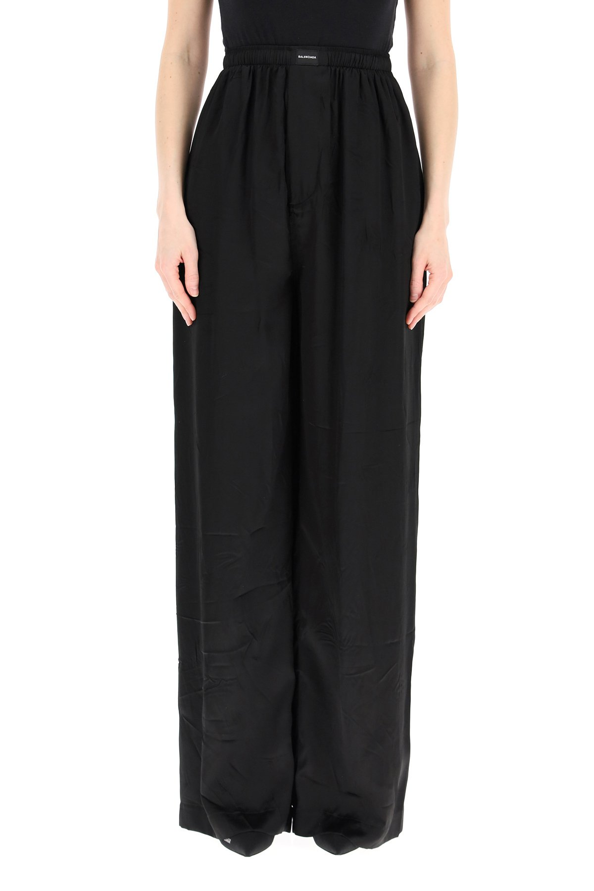 Balenciaga pantaloni pajama in satin